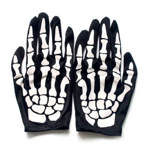 Halloween Party Skeleton Gloves Black And White