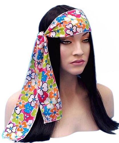 Headband - Flower Power Hippie Headtie