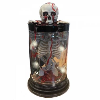 Hell Fire Skeleton Lantern- Table Décor