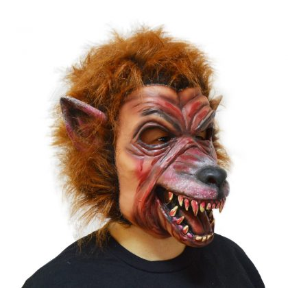 Latex Fur Full Head Werewolf Mask