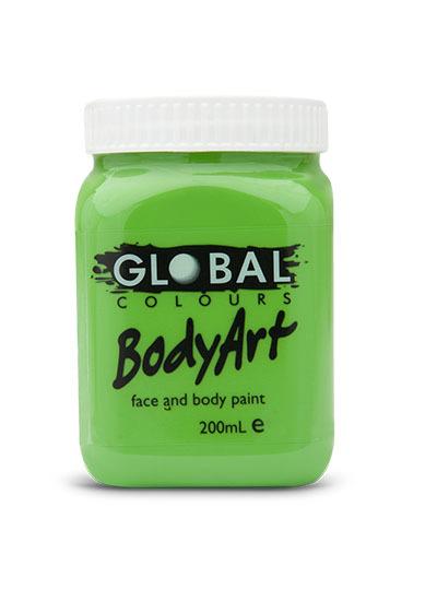 Lime Green - Face & Body Paint Liquid 200ml (Green Light)