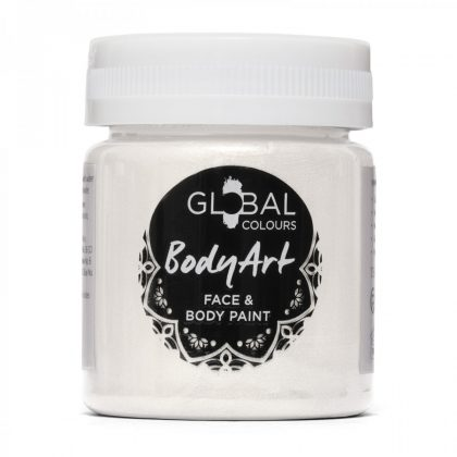 Metallic Pearl White - 45ml Face & Body Paint Liquid