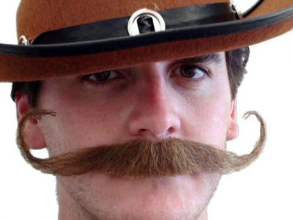 Moustache - Brown 'Outlaw'