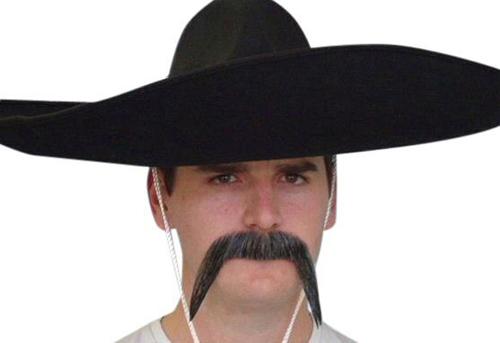 Moustache - Grey 'Mexican'