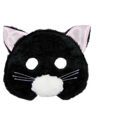 Plush Animal Mask - Cat