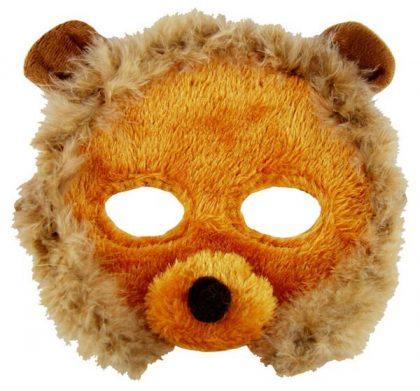 Plush Animal Mask - Lion