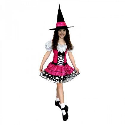 Sassy Pink Witch Costume Child
