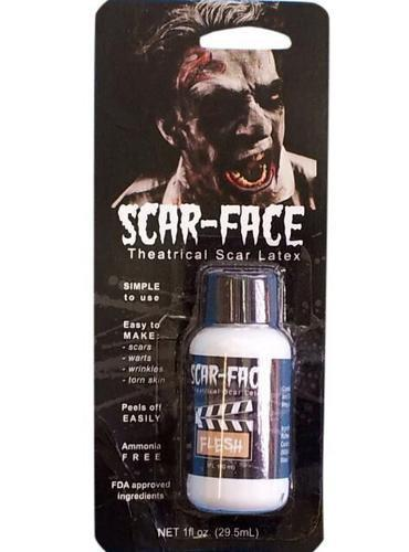 Scar Face Liquid Latex 1Oz - Flesh Card
