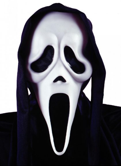 Scream Ghost Face Mask with Shroud