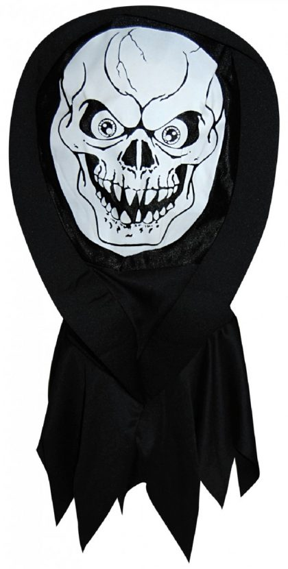 Screen Print Hooded Mask - Skeleton