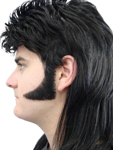 Sideburns - 70S Curved - Black