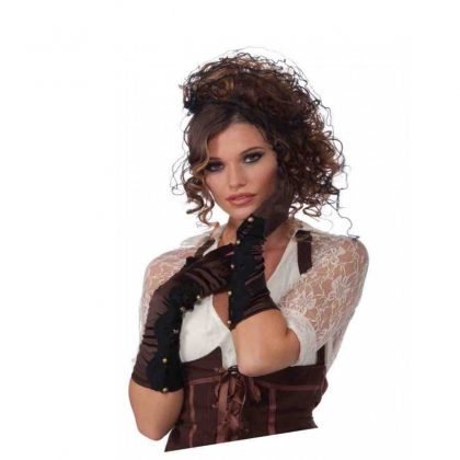Steam Punk Satin And Lace Gloves