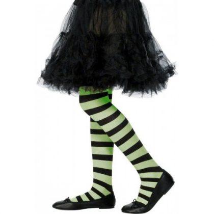 Striped Pantyhose green black