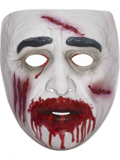 TRANSPARENT ZOMBIE MASK-BLOODY