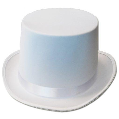 Top Hat - White Satin