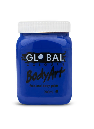 Ultra Blue - Face & Body Paint Liquid 200ml