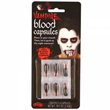 Vampire Liquid Blood Capsules - Pk 6