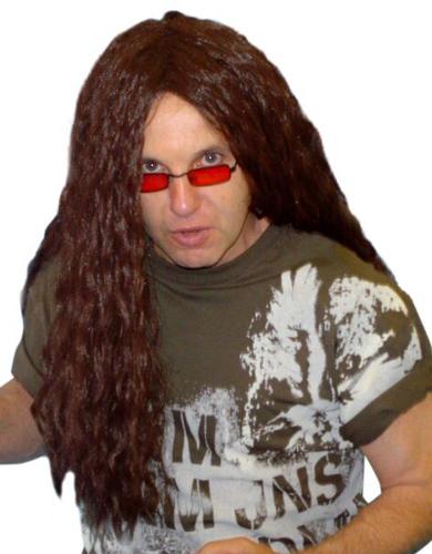 Wig - Heavy Metal Rocker (Long Brown)