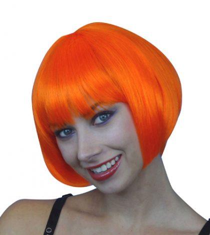 Wig- Orange Short Bob - Deluxe