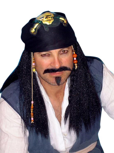 Wig - Pirate (Captain Sparrow) With Bandana