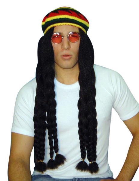 Wig - Rasta Braids With Knit Beret