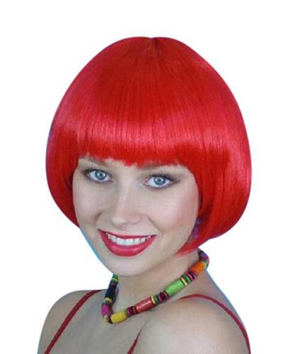 Wig- Red Short Bob - Deluxe
