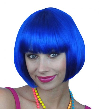 Wig- Royal Blue Short Bob - Deluxe
