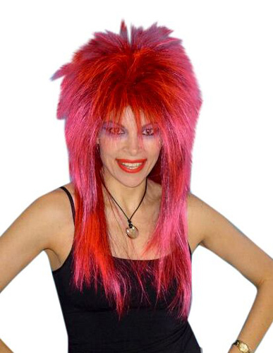 Wig - Spiky Vamp (Pink Black)