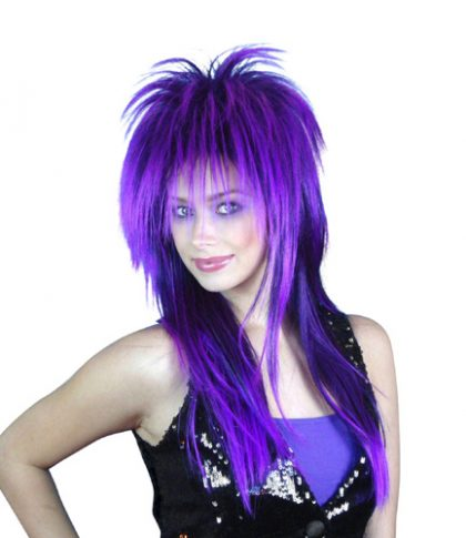 Wig - Spiky Vamp (Purple/Black)