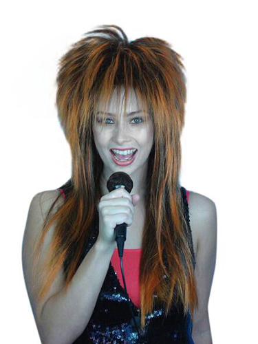 Wig - Spiky Vamp(Orange Black)