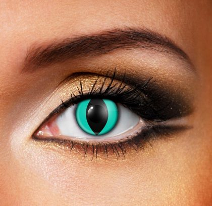 Aqua Cat Eye - Eye Fusion Contact Lenses