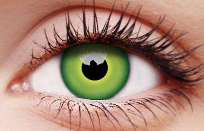 Hulk Green Coloured Contact Lenses