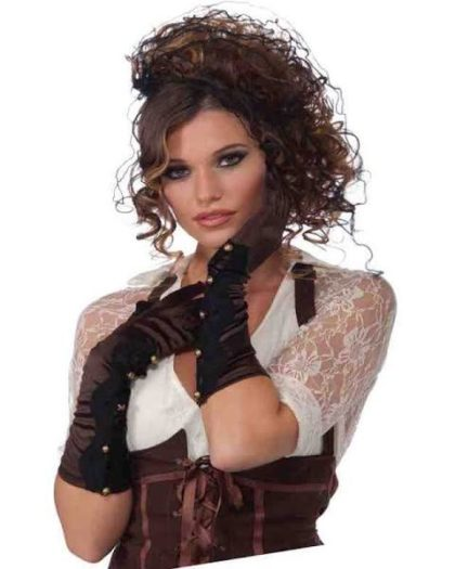 Steampunk Satin and lace gloves