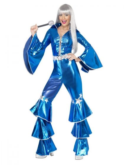 1970's Dancing Dream Costume, Blue