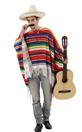 Adult Costume - Mexican Poncho