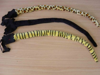 Animal Tail - Black Cat 85cm long