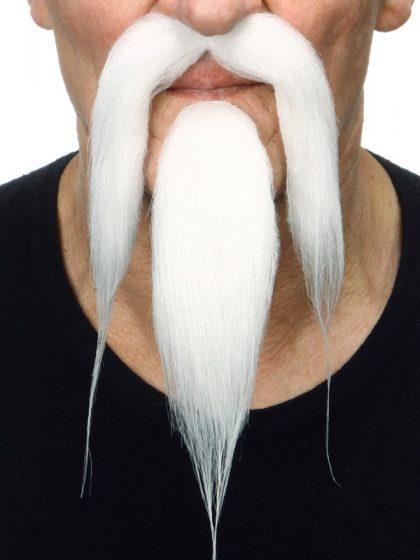Beard & moustache Oriental White
