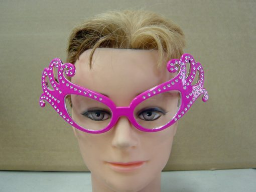 Butterfly Dame Edna Glasses Pink