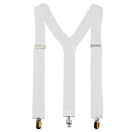 Brace & suspenders white