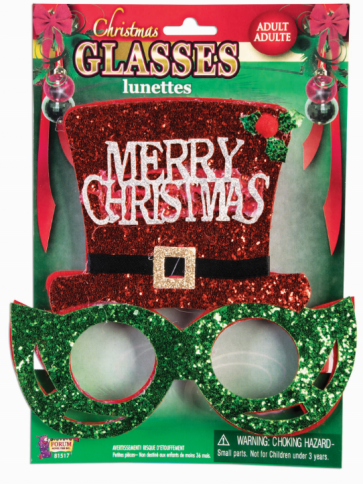 Christmas Glasses with Top Hat