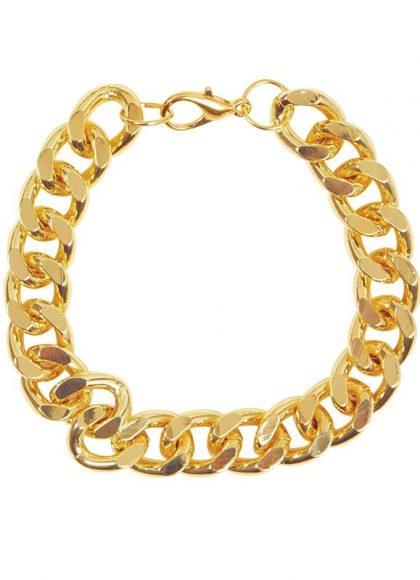 Chunky Gold Bracelet 20cm Metal