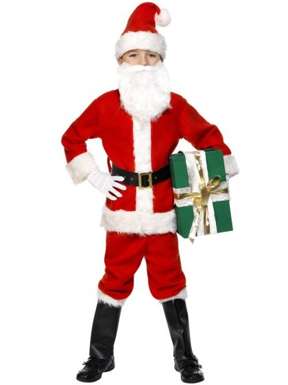 Deluxe Santa Costume & Beard, Child