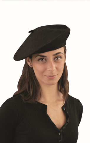 French Beret Black Hat