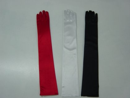 GLOVE SATIN THICK EXTRA LONG 55CM