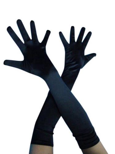 Gloves - Long Satin Black