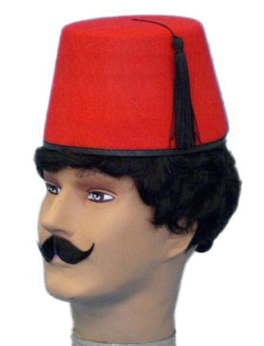 Hat- Fez - Red (A)