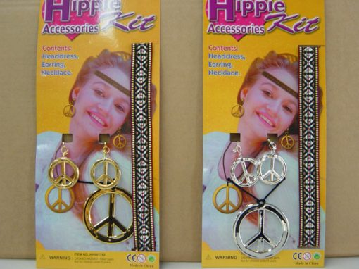 Hippie Necklace And Earring Set - Gold
