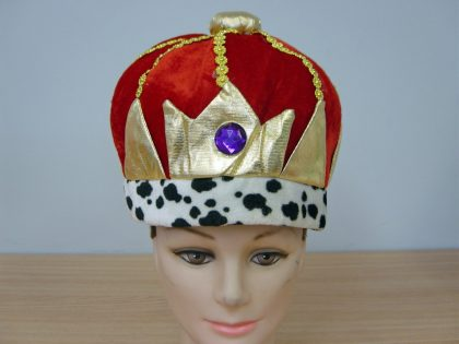 King Hat - Fabric Red