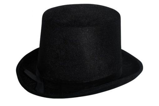 Lincoln Top Hat Velvet Black
