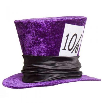 Mad Hatter Hat Deluxe Velvet Purple